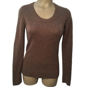 Peck & Peck Brown Cashmere Sweater S Small